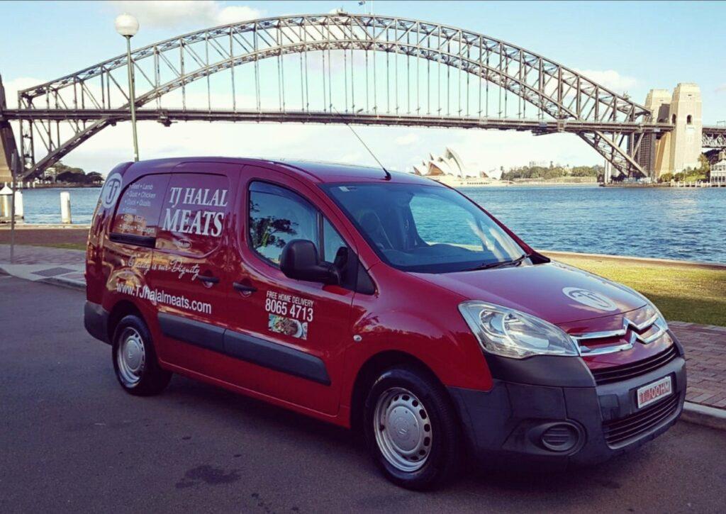 TJ Halal Meats Van